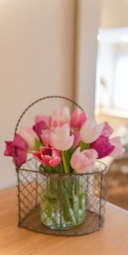 Home flower bedspread