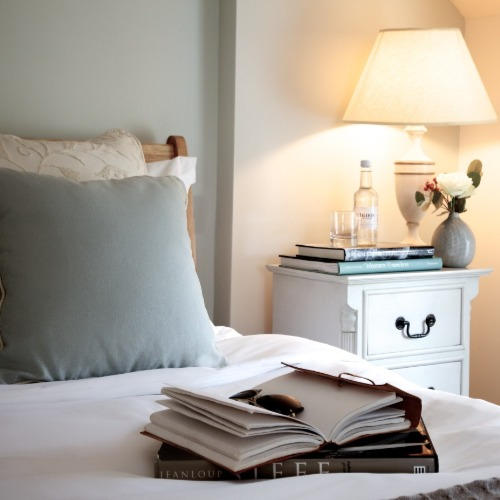 Rooms bed and books
