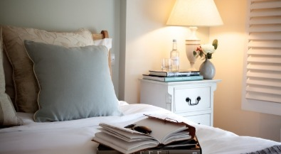 Cottage bedside lamp