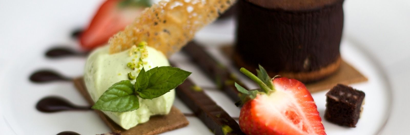 Pudding menu sorbet