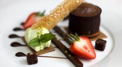 Pudding menu strawberry